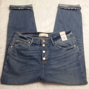 Maurice's Hi Rise Cropped Jeans 32 Destroyed NEW